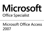 Microsoft Office Specialist for Access 2007 logo