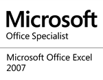 Microsoft Office Specialist for Excel 2007 logo