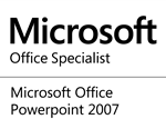 Microsoft Office Specialist for Powerpoint 2007 logo