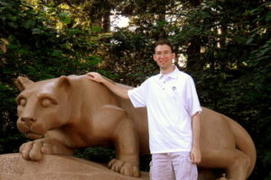 Picture of Dawson at the Lion Shrine