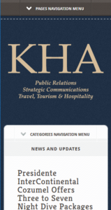 Picture of KHAPR Website on Mobile Device